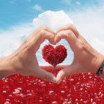 sky, heart, valentine